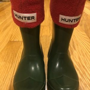 Boys Hunter boots with boot socks, size 8
